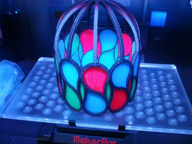 Pseudo Stained Glass lamp 3D Print 31635