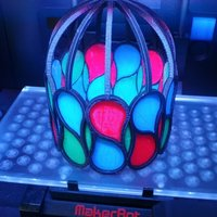 Small Pseudo Stained Glass lamp 3D Printing 31635