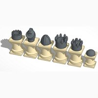 Small Crown #Chess 3D Printing 31663