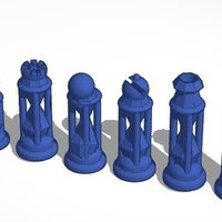 Small Diamond Hourglass #Chess 3D Printing 31684