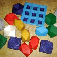 Small Rhombic dodecahemioctahedron play set 3D Printing 31688