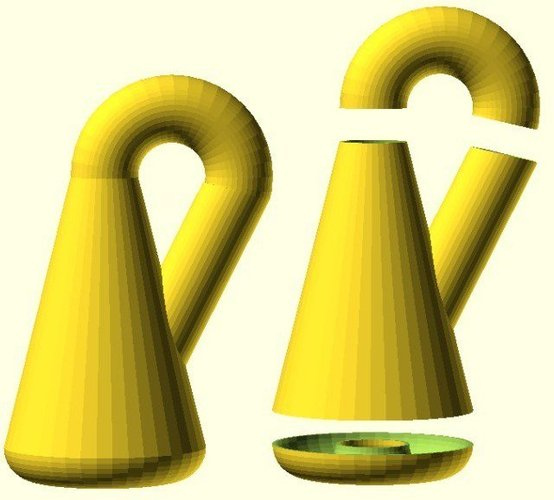 Klein Bottle from simple primitives 3D Print 31703