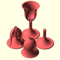 Small Parisian Goblet for picnics 3D Printing 31731