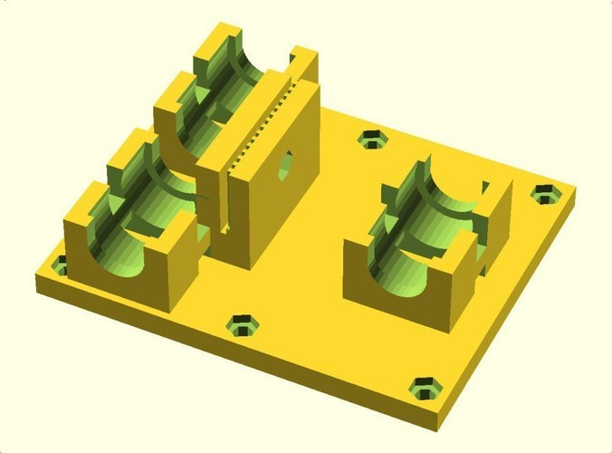 Linear Bearing  X Axis Carriage for ToM 3D Print 31747