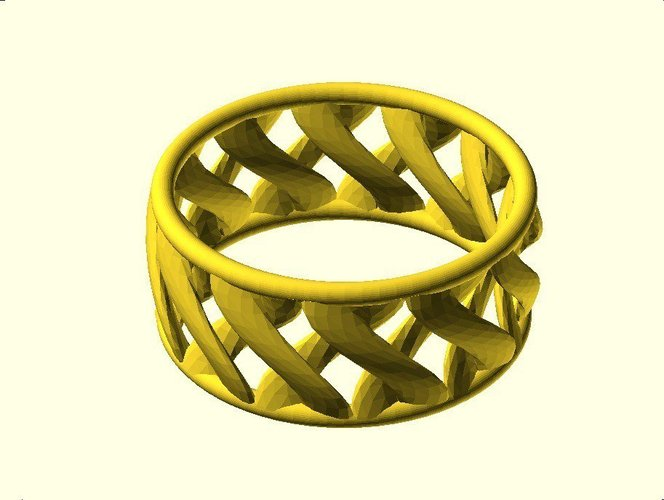 linkBracelet (or Ring when scaled!) 3D Print 31861