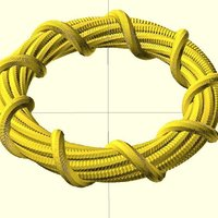 Small Twisted bracelet 3D Printing 31888