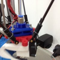 Small 3DR E3D v6 holder with pneumatic valve top 3D Printing 31950