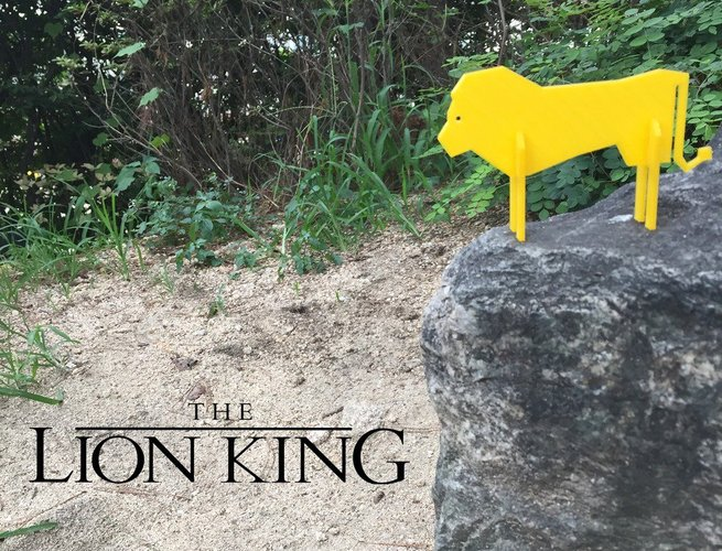Simple Animals 12 - Lion King 3D Print 31953