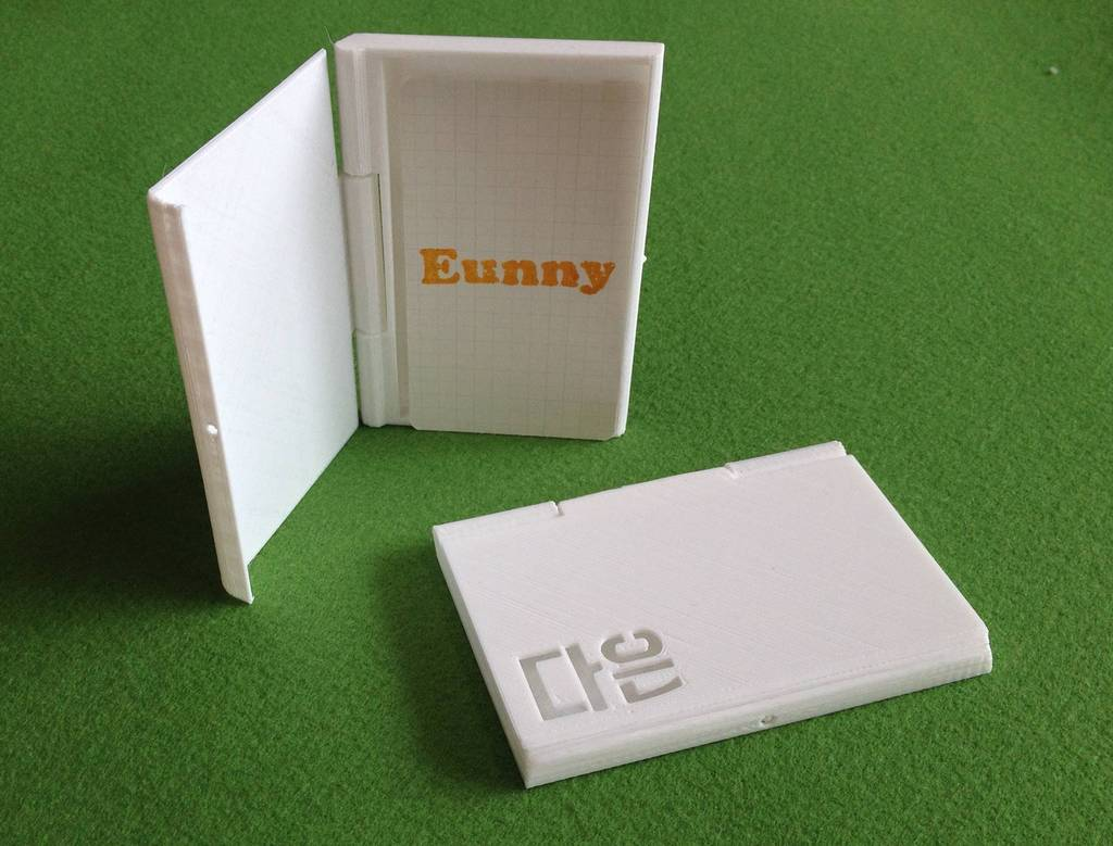 3D Printed Business card case by Eunny | Pinshape