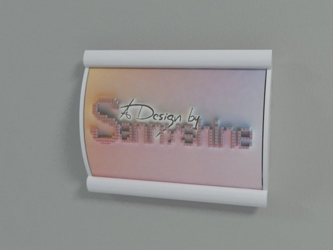 Wall Label holder 3D Print 32020
