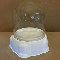 "Small 4"" Display Base for a Glass Dome 3D Printing 32022"