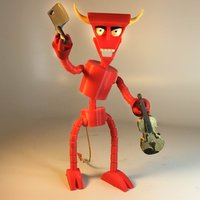 Small The Robot Devil (Beelzebot) 3D Printing 32031
