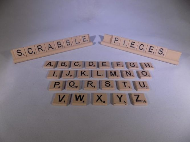 SCRABBLE Pieces and Rack 3D Print 32112
