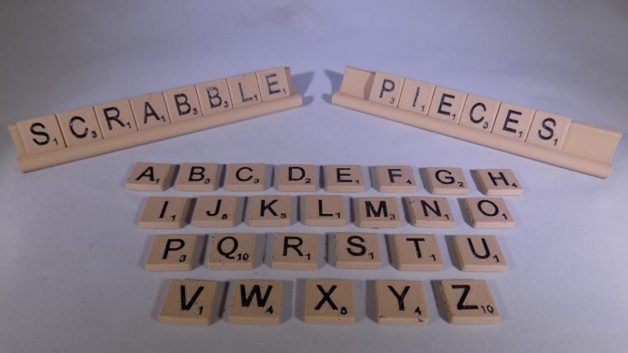SCRABBLE Pieces and Rack 3D Print 32113