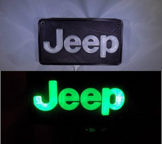 Jeep Emblem LED Light/Nightlight 3D Print 32130