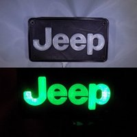 Small Jeep Emblem LED Light/Nightlight 3D Printing 32130