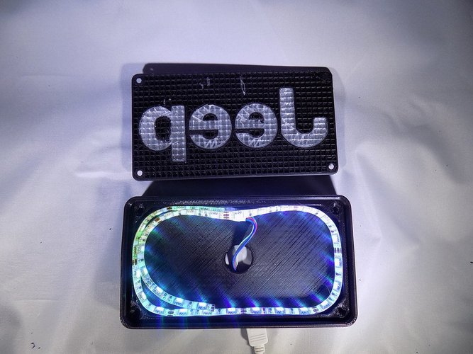 Jeep Emblem LED Light/Nightlight 3D Print 32131