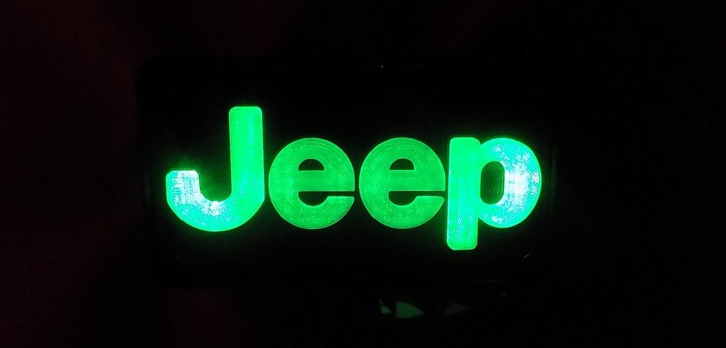 Jeep Emblem LED Light/Nightlight 3D Print 32134