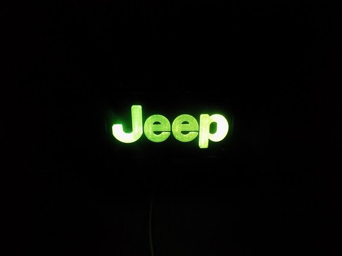 Jeep Emblem LED Light/Nightlight 3D Print 32136