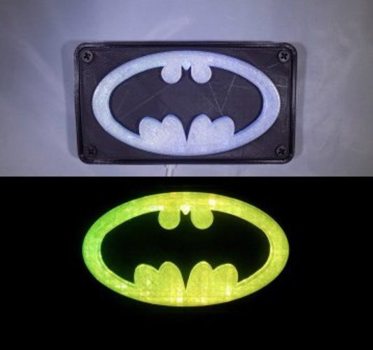 BATMAN LED Light/Nightlight 3D Print 32139