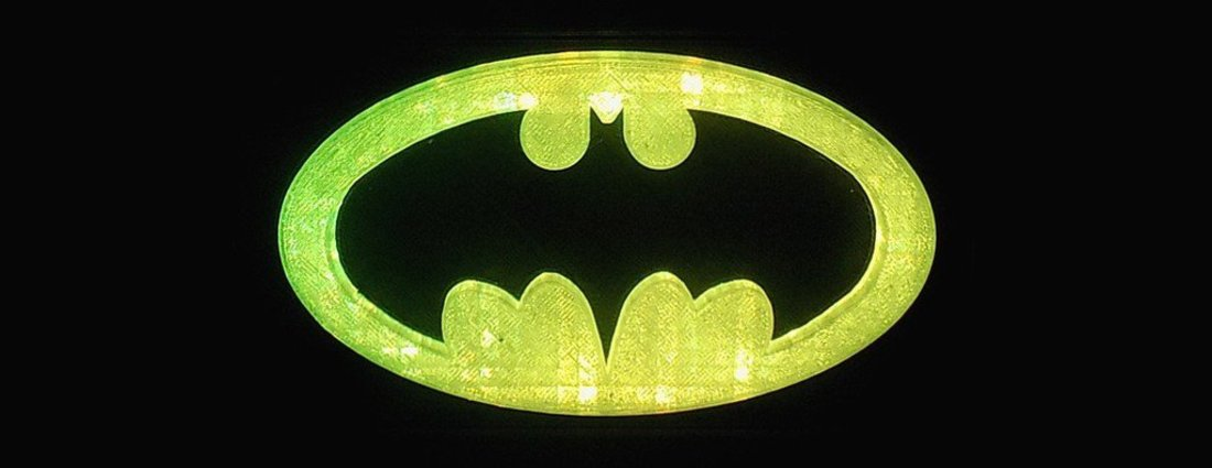 BATMAN LED Light/Nightlight 3D Print 32142