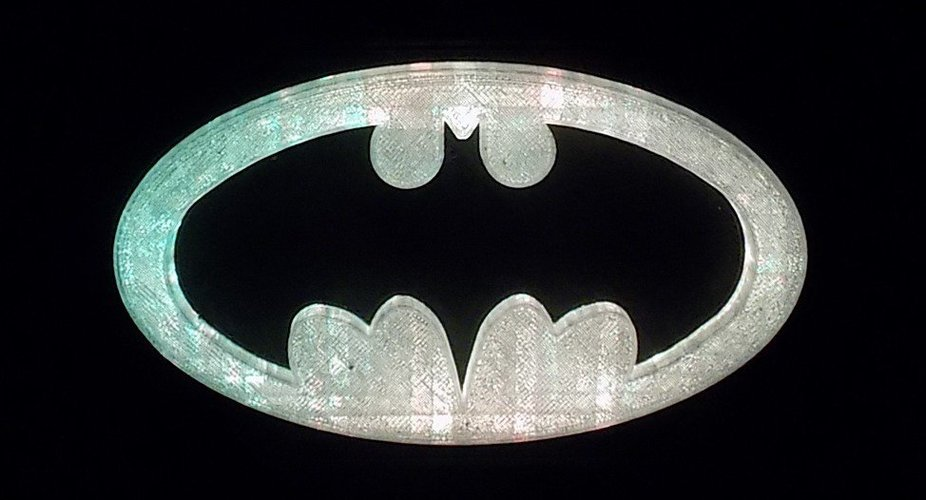BATMAN LED Light/Nightlight 3D Print 32144