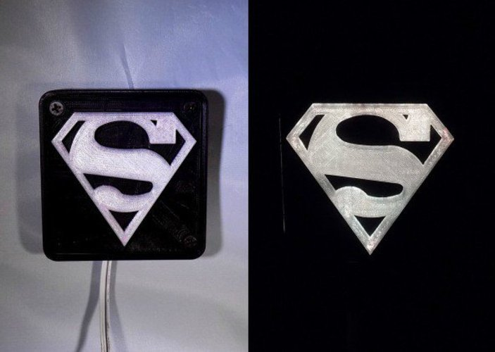 SUPERMAN LED Light/Nightlight 3D Print 32148