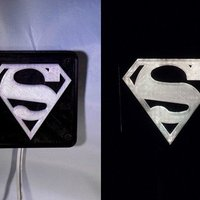 Small SUPERMAN LED Light/Nightlight 3D Printing 32148