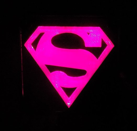SUPERMAN LED Light/Nightlight 3D Print 32149