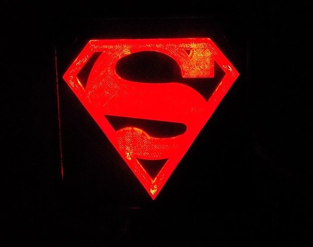SUPERMAN LED Light/Nightlight 3D Print 32150