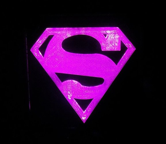 SUPERMAN LED Light/Nightlight 3D Print 32152
