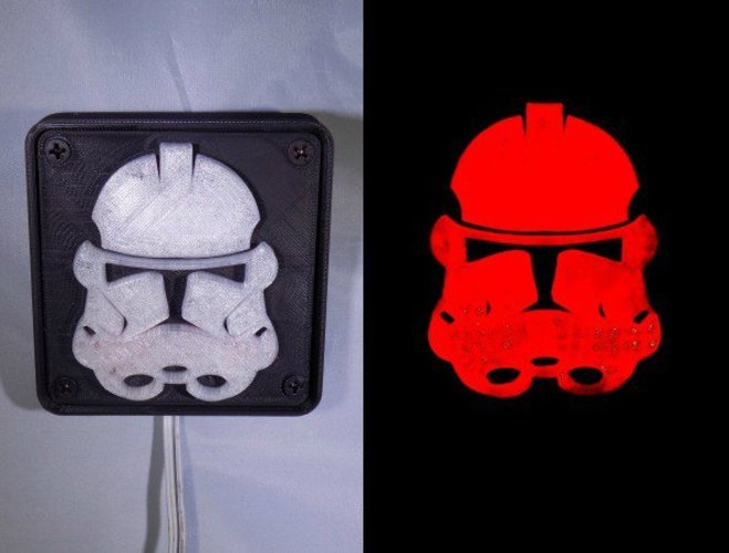 StormTrooper LED Light/Nightlight 3D Print 32157