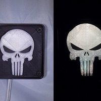Small Punisher LED Light/Nightlight 3D Printing 32166
