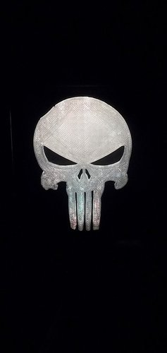 Punisher LED Light/Nightlight 3D Print 32167