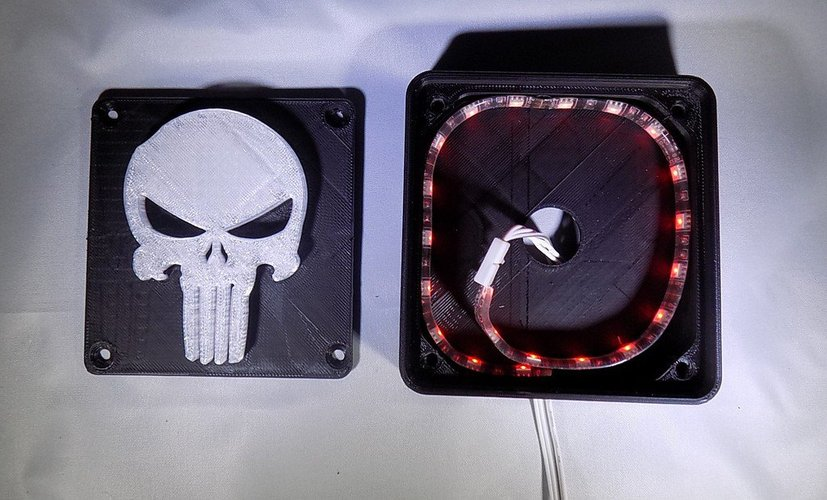 Punisher LED Light/Nightlight 3D Print 32168