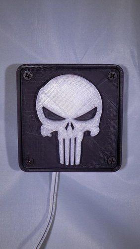 Punisher LED Light/Nightlight 3D Print 32169