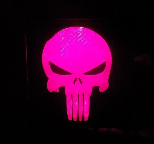 Punisher LED Light/Nightlight 3D Print 32170