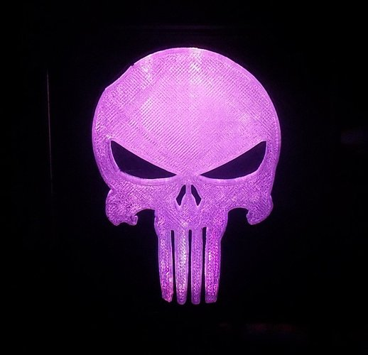 Punisher LED Light/Nightlight 3D Print 32172