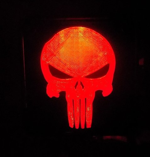 Punisher LED Light/Nightlight 3D Print 32174