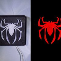 Small SPIDERMAN LED Light/Nightlight 3D Printing 32175