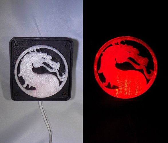 Mortal Kombat LED Light/NightLight 3D Print 32184