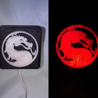 Small Mortal Kombat LED Light/NightLight 3D Printing 32184
