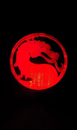 Mortal Kombat LED Light/NightLight 3D Print 32185