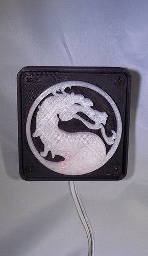 Mortal Kombat LED Light/NightLight 3D Print 32189