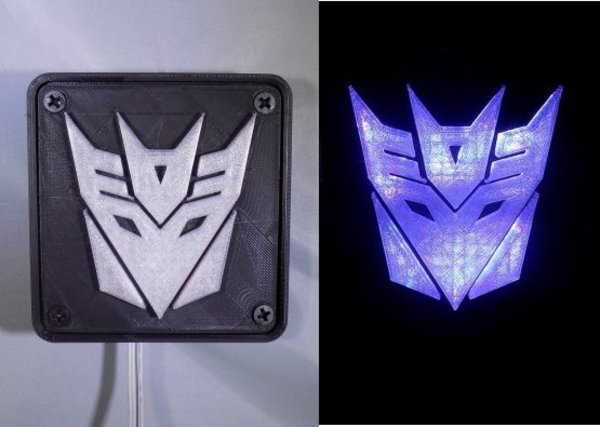 Medium Decepticon Transformers LED Nightlight/Lamp 3D Printing 32201