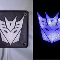 Small Decepticon Transformers LED Nightlight/Lamp 3D Printing 32201