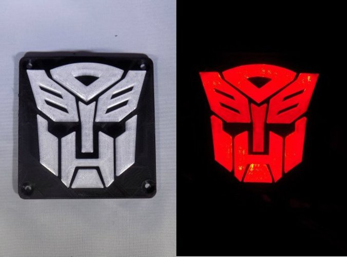 Autobot Transformers LED Nightlight/Lamp 3D Print 32210