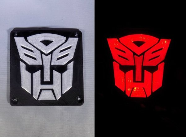 Medium Autobot Transformers LED Nightlight/Lamp 3D Printing 32210