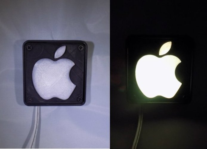 Apple Logo LED Nightlight/Lamp 3D Print 32219