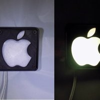 Small Apple Logo LED Nightlight/Lamp 3D Printing 32219